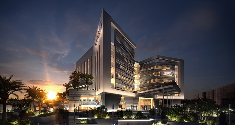 National Bank of Oman in Muscat designed by LOM architects.