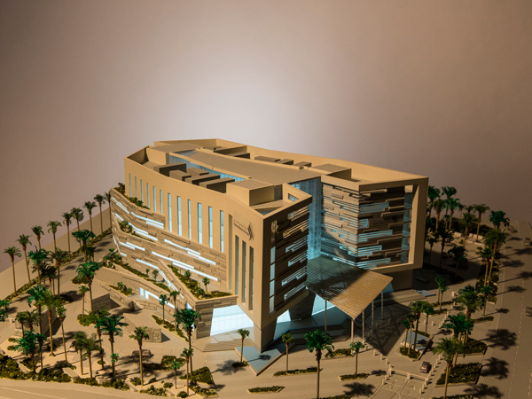 National Bank of Oman HQ - model view